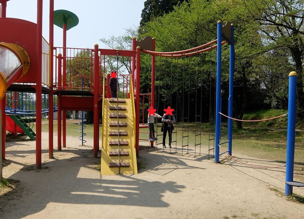 薬勝寺池公園の遊具