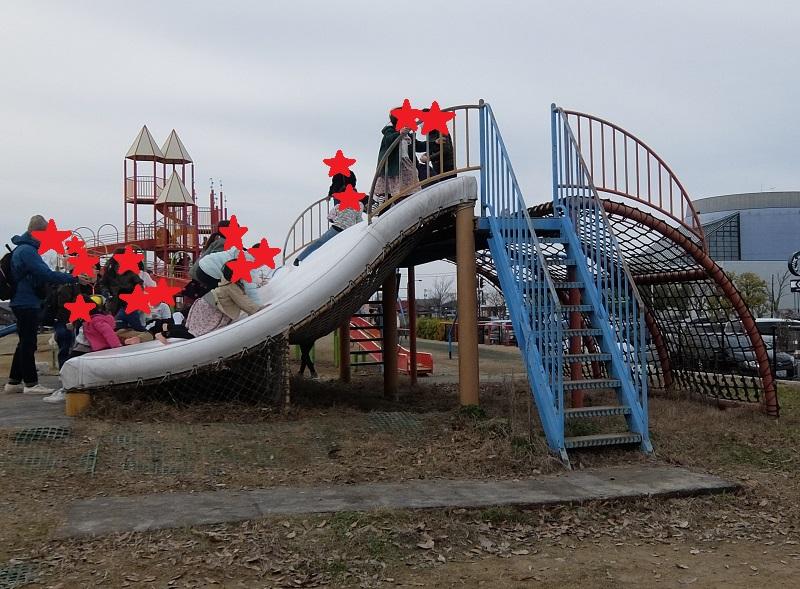 歌の森運動公園の滑り台